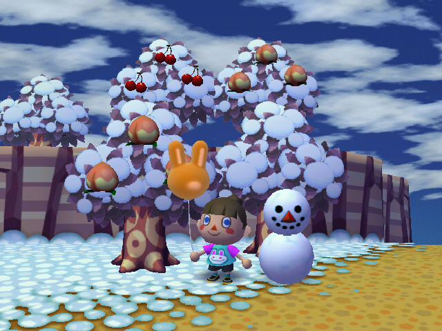 perfect snowman & bunny balloon