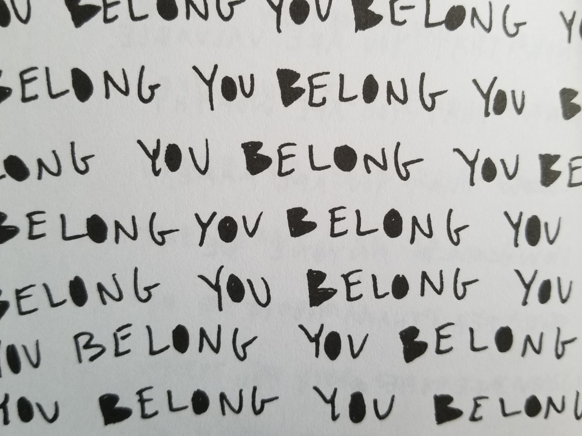 """You Belong"" repeating text"
