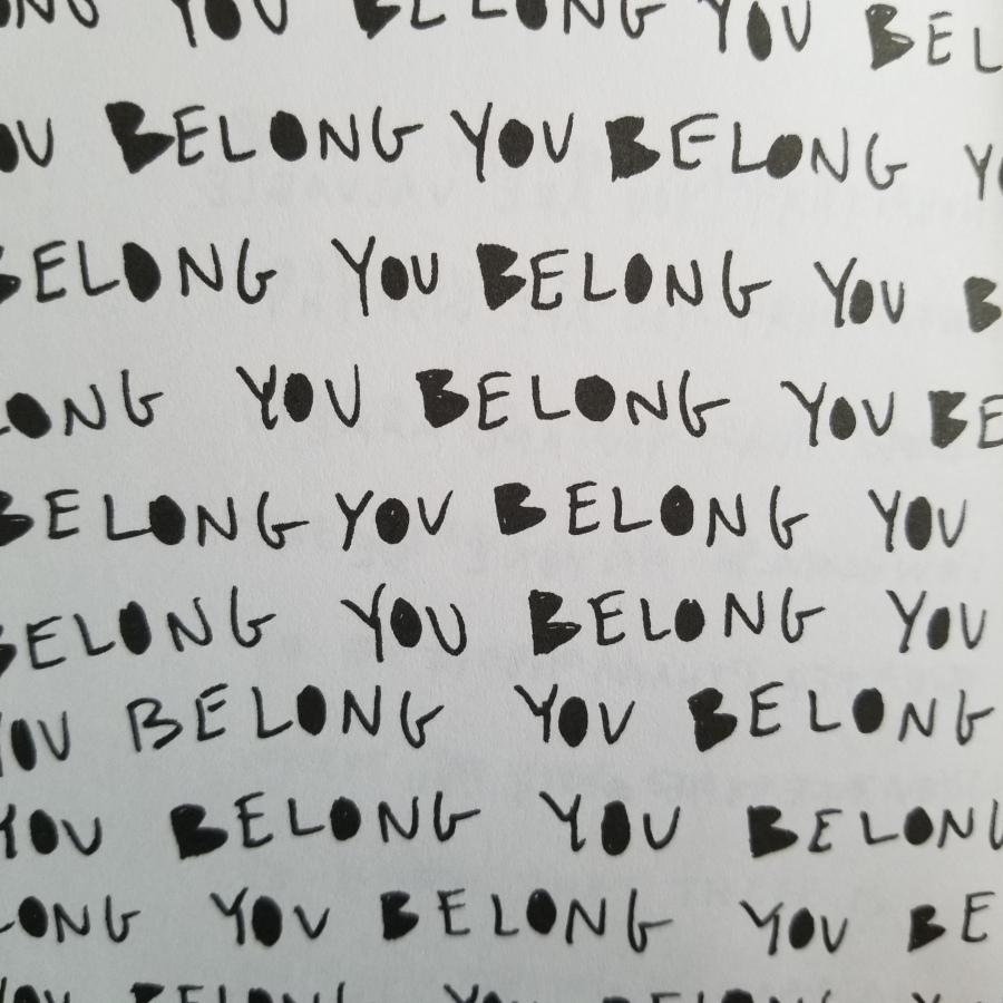 """You Belong"" repeating text"